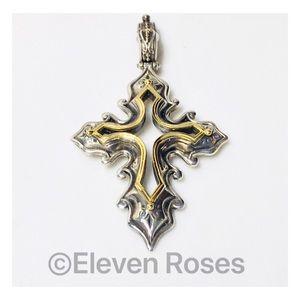 Konstantino 925 18k Lg Hebe Cross Enhancer Pendant